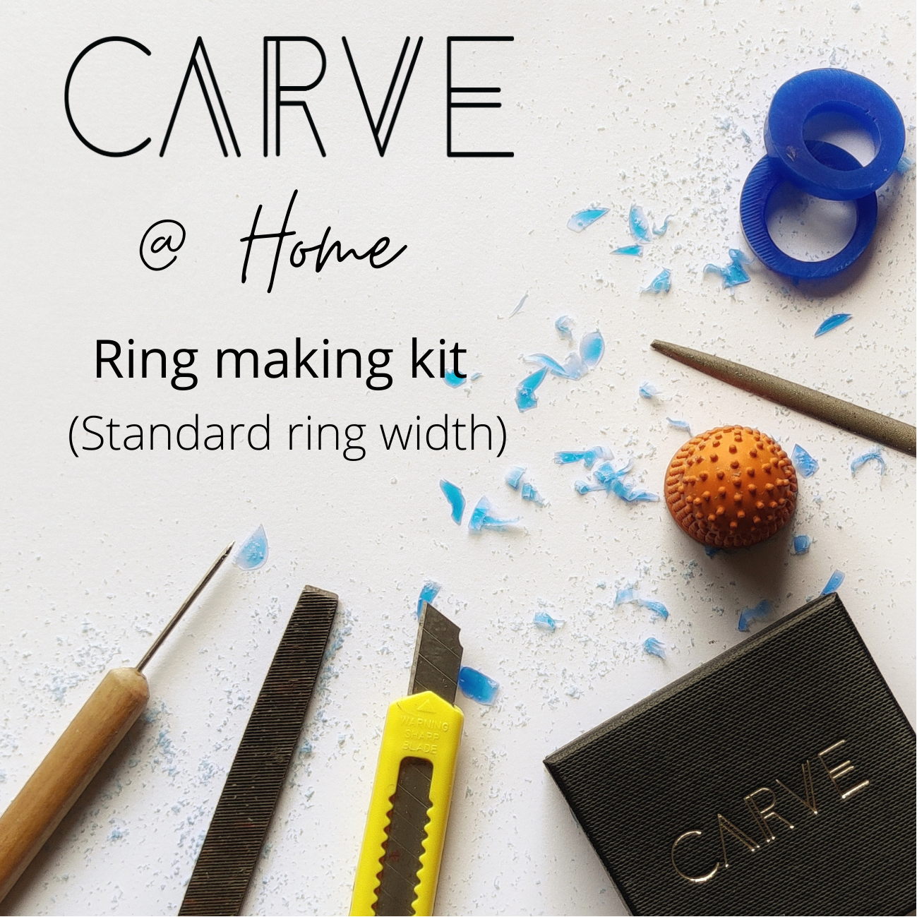 Carve @ Home ring carving kit - Standard wax