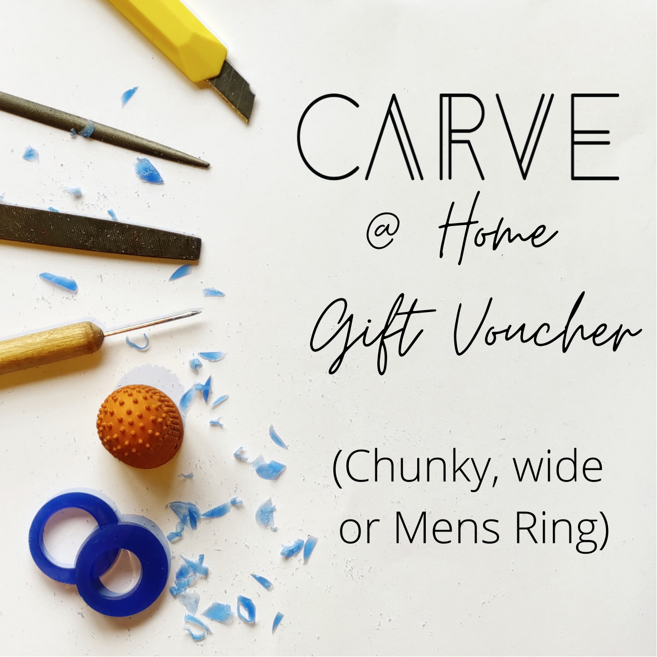 Carve @ Home Gift Voucher for Chunky or Mens ring (wide wax)